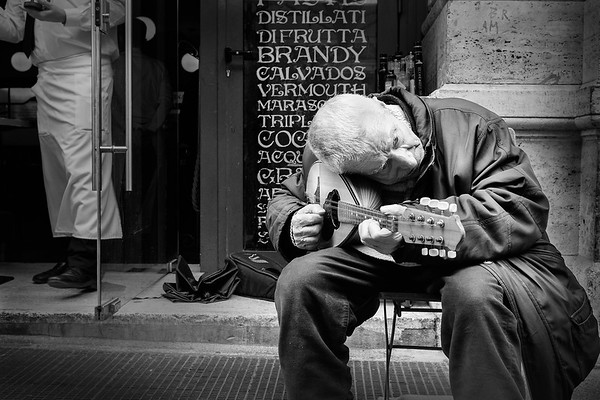 The street busker's life...