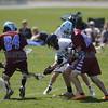 The first quarter of the Santa Fe Prep vs Sandia Prep Lacrosse championship game at Ballon Fiesta Park on Saturday, May 6, 2016. Luis Sánchez Saturno/The New Mexicane