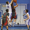The first quarter of the Santa Fe Indian School vs St. Michael's High School boys basketball game at St. Mike's on February 24, 2016. Luis Sánchez Saturno/The New Mexican
