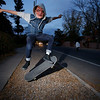 Isaac Romero, 15, allies his skateboard while trick or treating on Don Gaspar Ave. for Halloween in Santa Fe on Monday, October 31, 2016. Luis Sanchez Saturno/The New Mexican