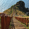 Stairway at Ponta do Garajau on the island of Madeira - a color image