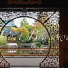 View of Chinese garden gazebo in Vancouver, Canada - a color image