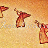 Three Angels blowing their trumpets