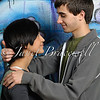 Young adult couple hugging - a color image