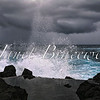 Rain storm at Porto Moniz coast on the island of Madeira - a color image