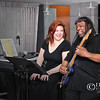Keli Vale and Richard Tucker taking a break during jazz session - a color image