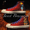 Red-beaded Chuck Taylor All-Stars at Smithsonian's National Museum of the American Indian – a color image