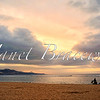 Sunset on Las Canteras beach in the Canary Islands - a color image