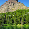 Grinnell Point in the Many Glacier area of Glacier National Park - a color image
