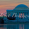 Jefferson Memorial and Tidal Basin in Washington DC at sunrise - a color image