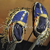 Blue moccasins at Smithsonian's National Museum of the American Indian – a color image