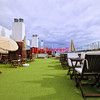 Hotel rooftop café in the Canary Islands - a color image