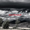 Storm clouds over Missoula, Montana - a near black and white image