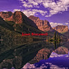 Sexton Glacier reflections in St. Mary Lake of Glacier National Park - a color image