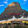 Clements Mountain at Logan Pass in Glacier National Park - a color image