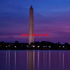 View of Washington Monument at dawn in Washington, DC - a color image