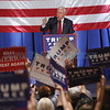 Vice-presidential candidate, Mike Pence, addresses a crowd of supporters at Sandia Resort and Casino on Tuesday, August 16, 2016. Luis Sánchez Saturno/The New Mexican