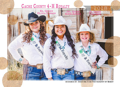 Cache County 4-H 2018 Royalty Autograph Sheet