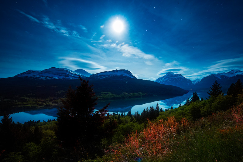 Full Moon over Glacier