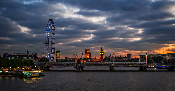 Iconic London from Waterloo bridge.