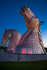 Traveler Faces the Kelpies