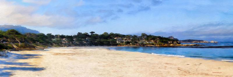 Morning in Carmel Panorama