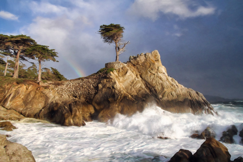 Lone Cypress Rainbow