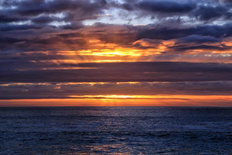 Sunset in Pebble Beach