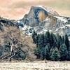 Half Dome Snow