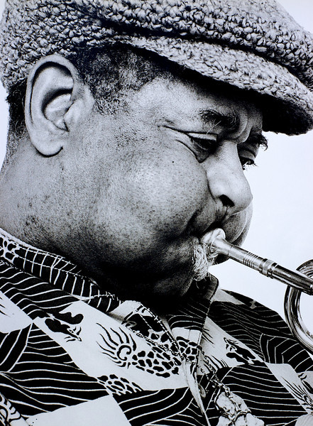 Dizzy Gillespe, 1993<br /> from the book The Jazz Pictures; Photography by Carol Friedman