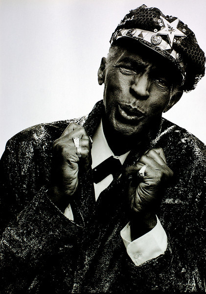 Charles Brown, 1994<br /> from the book The Jazz Pictures; Photography by Carol Friedman