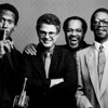 Don Cherry, Charlie Haden, Billy Higgins, James Clay, 1988<br /> from the book The Jazz Pictures; Photography by Carol Friedman