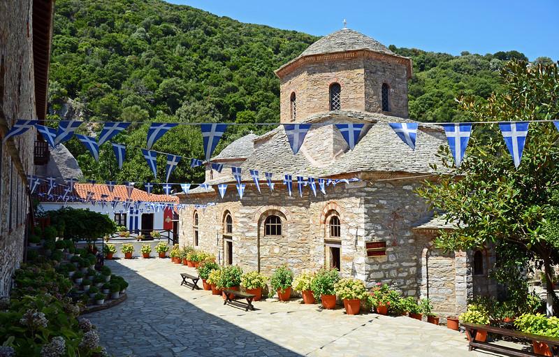 Evangelistria monastery on the island of Skiathos, Greece