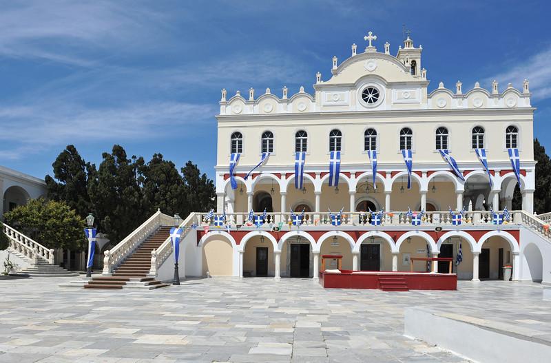 Shrine of Panayia Evangelistria in Tinos, Greece
