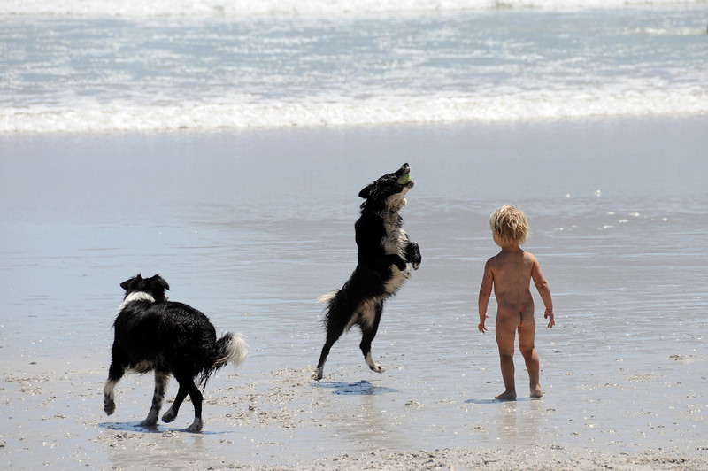 Fun at Noordhoek beach on the Cape Peninsula, South Africa