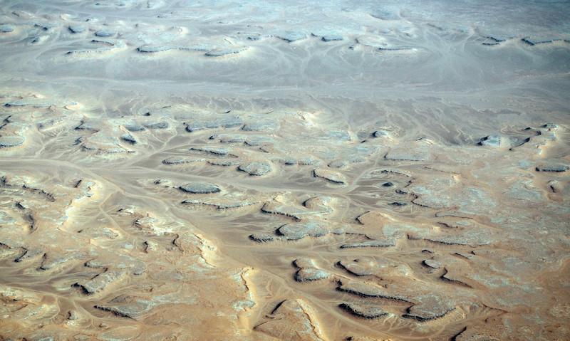 Weathered flat lying sedimentary rocks in central Interior Algeria