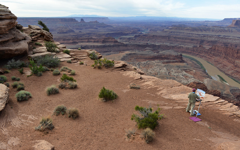 Painting deep time at Dead Horse Point in Utah, USA