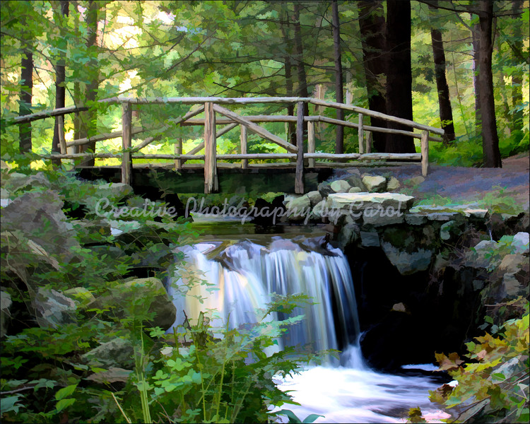 Bridge at New Pond Farm - Print