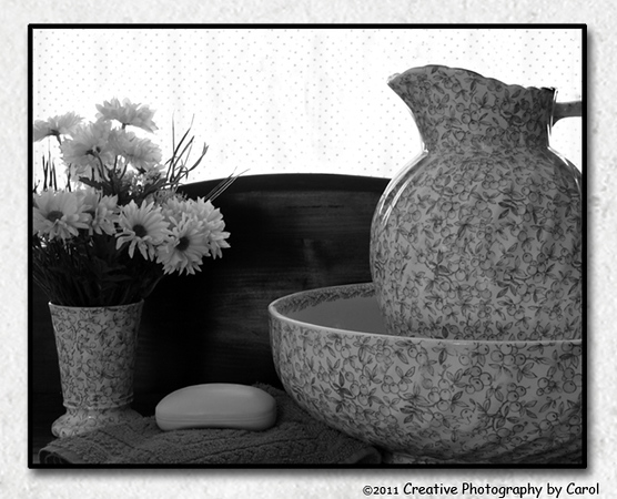 29/365 Great Grandma's Pitcher & Bowl