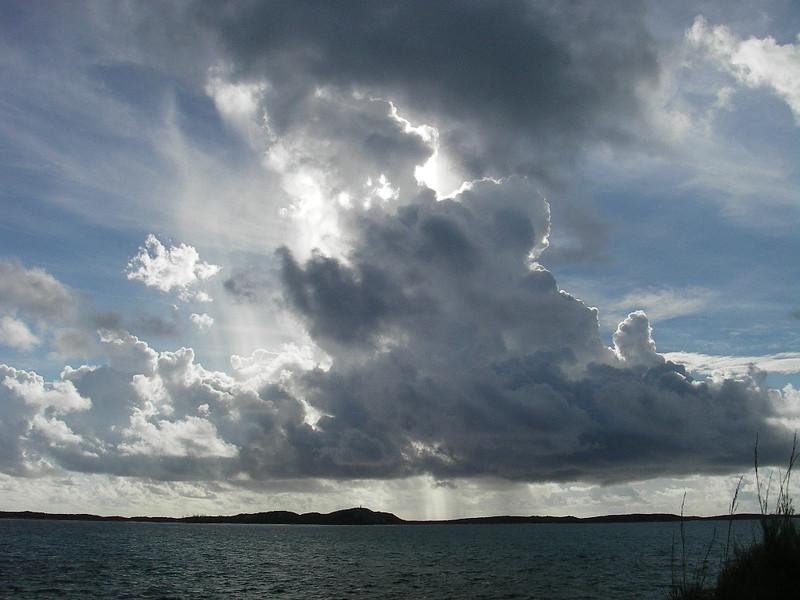 Rain storm, Elizabeth Harbour