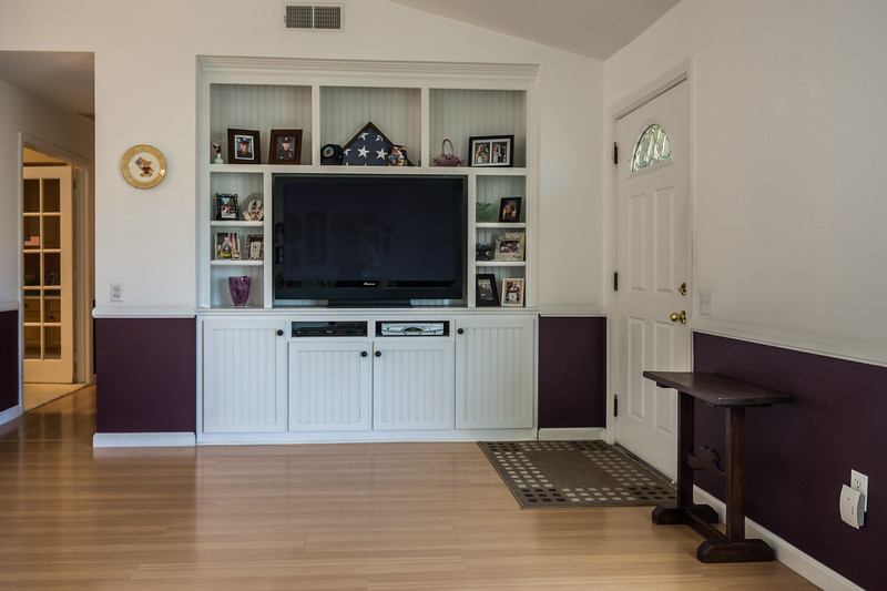 Living Room with Custom Built-in Entertainment center