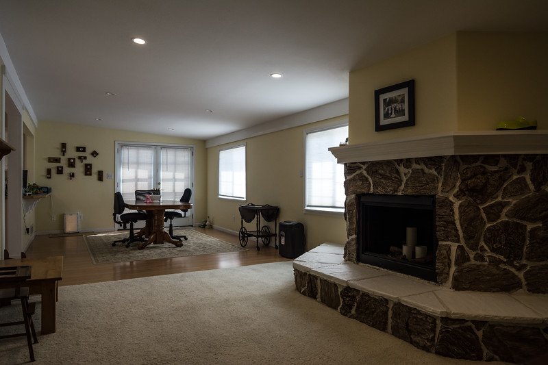 View of Dining Room and Family Room
