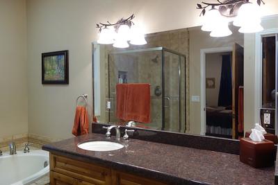 Master bathroom vanity with granite counter