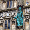 Christ Church Gate<br /> The main entrance to Canterbury Cathedral is known as Christ Church Gate, it has a statue of Jesus above the entrance, surrounded by smaller statues of angels.