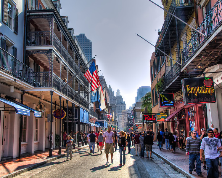 Bourbon Street<br /> Many major cities have a street that comes to mind when you think of  famous locations or attractions. Washington D.C. has Pennsylvania Avenue. Beverly Hills has Rodea Drive and New York City has Wall Street. Down south in Louisiana, New Orleans has Bourbon Street. It's a totally different atmosphere during the day than at night, but still interesting anytime you visit. If you don't like crowds, don't even think about walking down after dark, but it's known as the place to go for good music and a lot to see...so to speak.