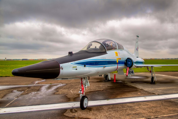 NASA's T-38<br /> The Northrop T-38 was used by the Air Force as a two-seat, supersonic trainer and was used by NASA's research pilots for proficiency and mission support flights. With its lower fuel burn rate and maintenance costs, the T-38 is cheaper to operate than the larger and faster F-18.<br /> <br /> This is the model plane that you always saw escort the shuttle each time it returned to earth. In Houston, we saw many of the astronauts return to Ellington Field after their missions flying these. It's a plane that isn't large, but looks like it would be a lot of fun to fly. I'm available if anyone takes one up soon.