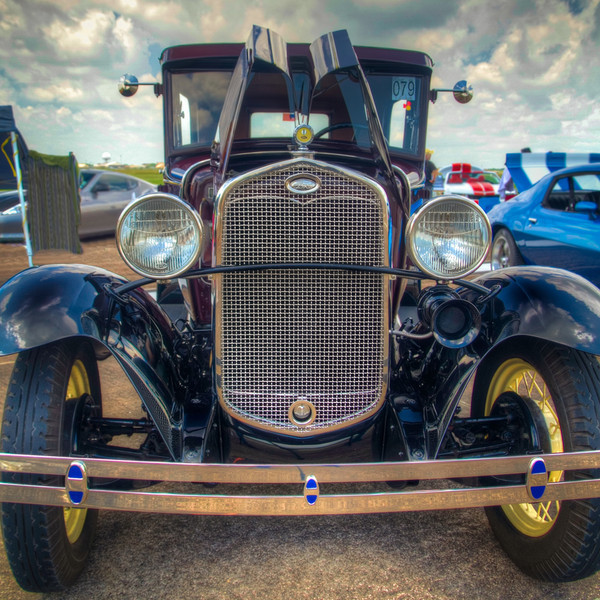 Model A Head On<br /> This Ford Model A looked like it just rolled off of Henry's assembly line. Its owner should be proud and commended for maintaining a bit of rolling history.