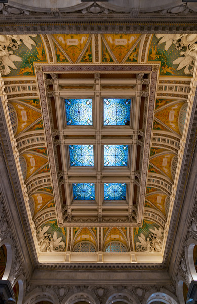 Keep Looking Up<br /> The moment you walk into the Jefferson Building, you are caught by surprise by the beauty and details of the architecture, paintings and tile-work.
