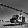 The Huey<br /> Air support has played a major role in all recent wars, especially in Vietnam. The UH-1E Huey was the first turbine-powered helicopter to enter production for the United States military, and more than 16,000 have been produced worldwide. The first combat operation of the UH-1 was in the U.S. Army during the Vietnam War, with approximately 7,000 UH-1 aircraft used for that war. I thought it proper to process it in black and white, due to the era when it served our country saw little color film.