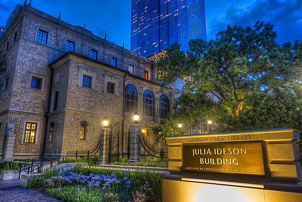 Julia Ideson Building<br />  was the Houston librarian from 1903 to 1945.  Under her term, the library expanded its services to include several branches and a bookmobile.